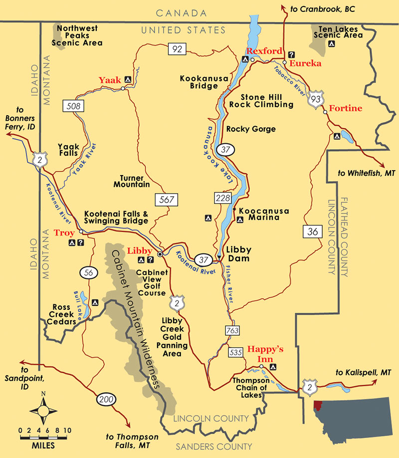 Welcome To The Official Site For Lincoln County Montana Lincoln - Montana political map